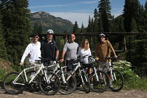 Telluride Outside - Mountain Bike Tours :: Pedal a mountain bike through spectacular high country along the historic route of the Galloping Goose railway. 1/2 day & full day tours, or custom tours for advanced riders.