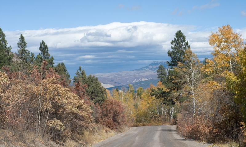 Road from San Juan Mountains into Ridgeway