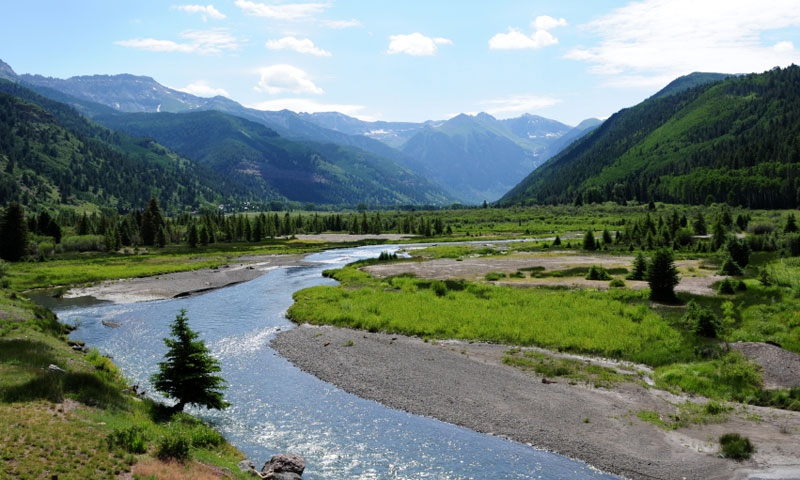 San Miguel River in Telluride Colorado