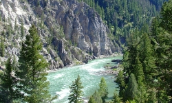 The Snake River Canyon near Jackson Wyoming