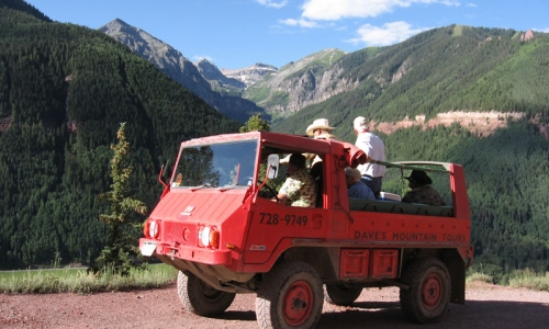 Off Road Jeep Imogene Pass