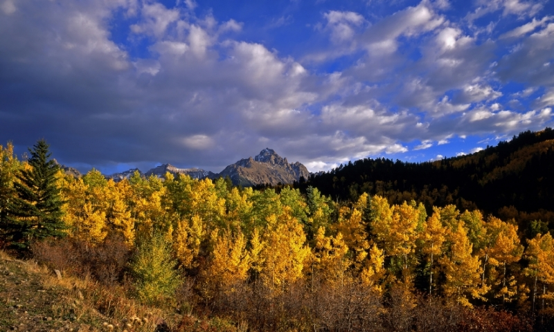 Mount Sneffels in Uncompahgre National Forest