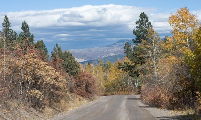 Road from San Juan Mountains into Ridgeway
