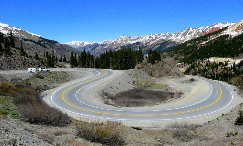 The Million Dollar Highway links Ouray to Silverton