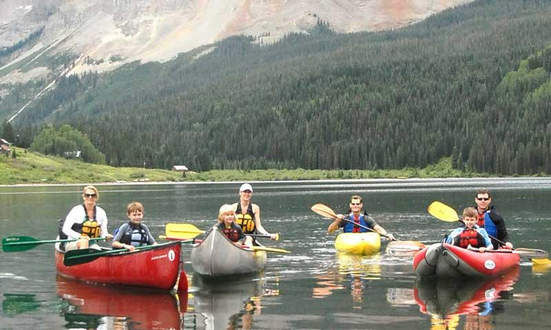 Canoeing with Kids in Telluride