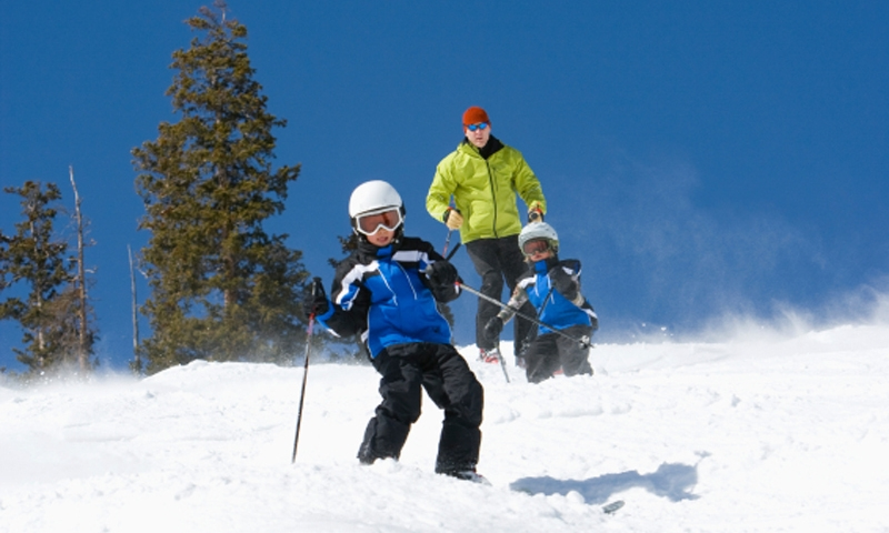 Kids Winter Skiing