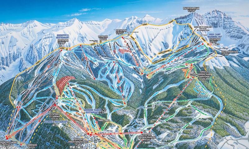 Telluride Ski Map