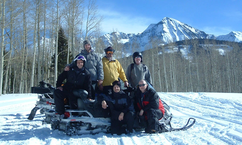 Snowmobiling Telluride Colorado Group