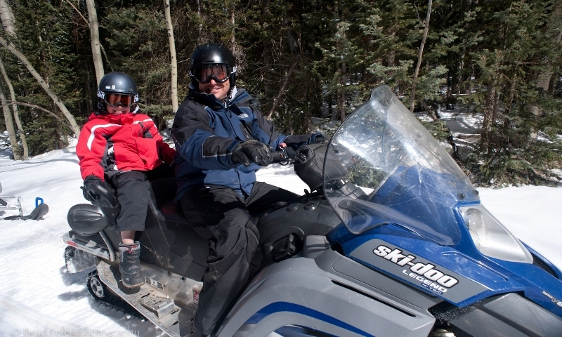Snowmobiling Telluride Colorado Snowmobile Kids Family