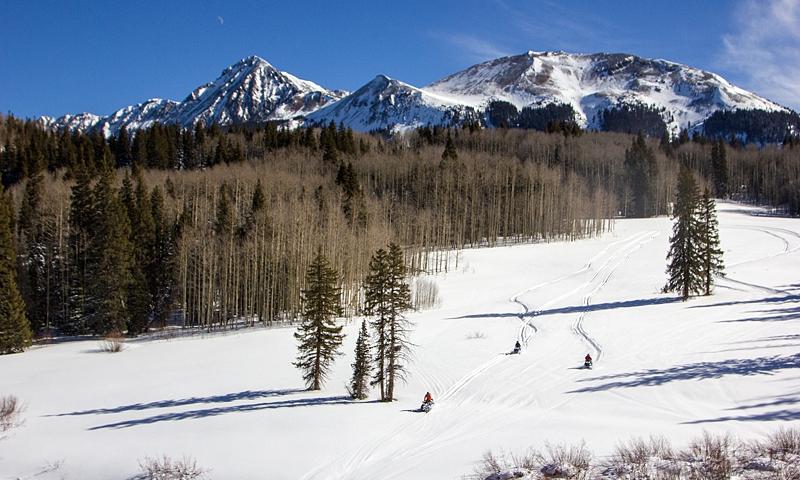 Snowmobiling in Telluride Colorado