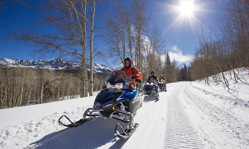 Snowmobiling in Telluride Colorado